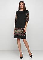 Украинское вышитое платье Черное ЕтноМодерн M-1057-5