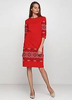 Украинское вышитое платье Черное ЕтноМодерн M-1057-7