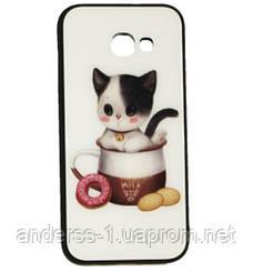 Чехол Samsung A5 (2017) White Cat