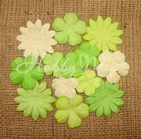 Набор цветов Dovecraft Paper Blossoms - Light Green