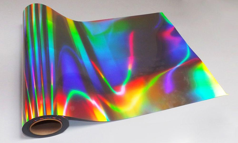 Термопленка радужная голограмма для печати на ткани голографическая