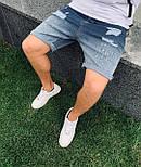 😜 Шорты - Мужские джинсовые шорты светло-синие хлопок, фото 2