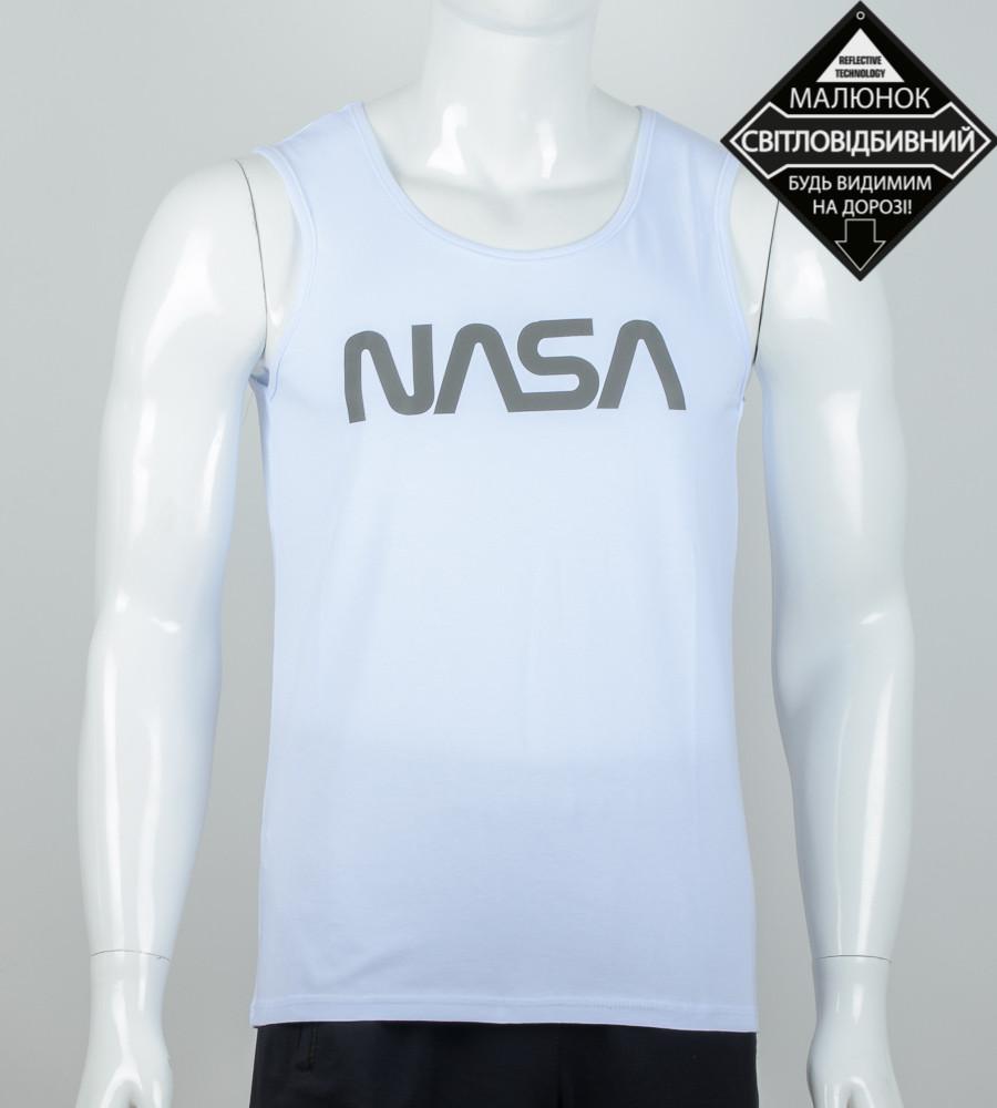 Майка чоловіча NASA (0915мм), Білий
