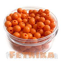 Бусины пластиковые оранжевые 8 мм