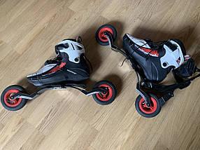Скоростные Роликовые коньки POWERSLIDE на надувных колёсах Лыжеролики