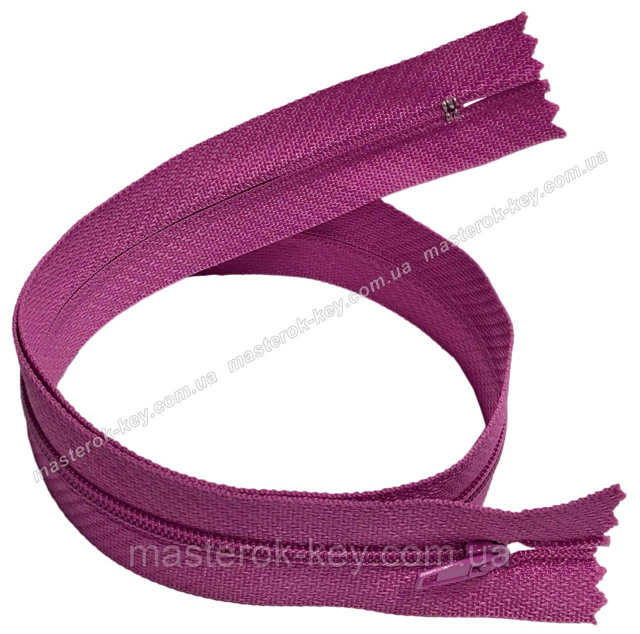 Молния плательная Тип 3 50см неразъемная цвет Розово-сиреневый 524