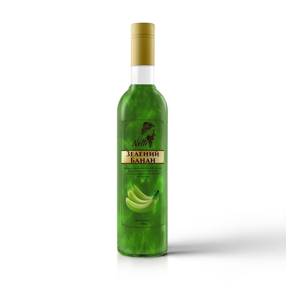 Сироп Nelli c глиттером Зеленый банан