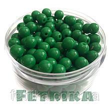 Бусины пластиковые зеленые 8 мм