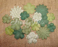 Набор цветов Dovecraft Paper Blossoms - Dark Green