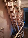 Каркас лестницы на зигзагообразных косоурах. Каркас сходів на ламаних косоурах., фото 3