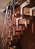Каркас лестницы на зигзагообразных косоурах. Каркас сходів на ламаних косоурах., фото 5