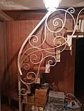 Каркас лестницы на зигзагообразных косоурах. Каркас сходів на ламаних косоурах., фото 6