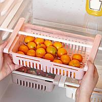 Органайзер на холодильник Strechable Hanging Storage Rack растягивающийся Розовый