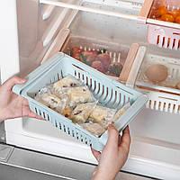Органайзер на холодильник Strechable Hanging Storage Rack растягивающийся Голубой
