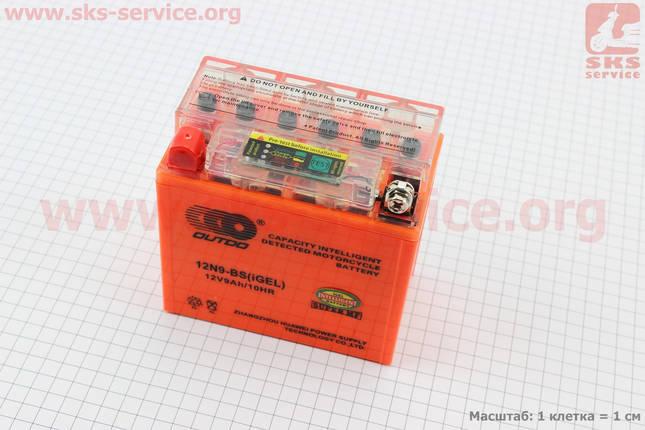Аккумулятор 9Аh МОТО 12N9-BS гелевый (L135*W75*H135mm), 2020, с ИНДИКАТОРОМ, фото 2