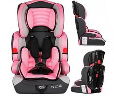 Универсальное детское автокресло Kindersafety N-LINE 9-36 кг, розовое