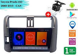 """Штатная магнитола Toyota Prado 150 2010-2013 (10"""") +CAN Android 10.1 (4/32)"""