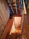 Каркас лестницы на зигзагообразных косоурах. Каркас сходів на ламаних косоурах., фото 8
