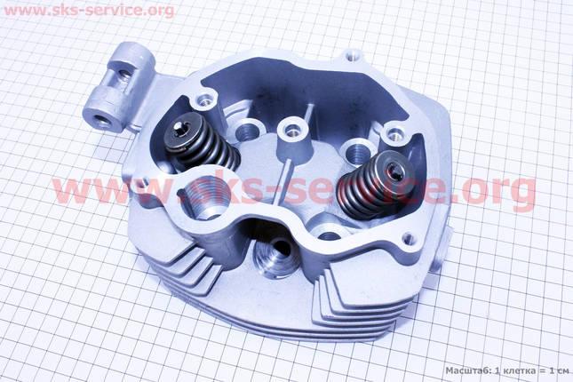 Головка цилиндра 125cc-56,5mm + клапана к-кт, фото 2