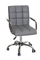 Кресло офисное на колесах AUGUSTO-ARM CH-OFFICE эко кожа , серый 1001