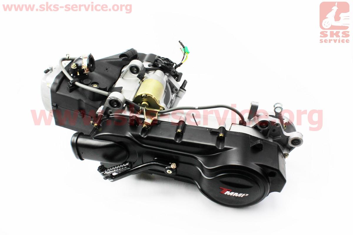 Двигатель скутерный в сборе 150куб (длинный вариатор, короткий вал)