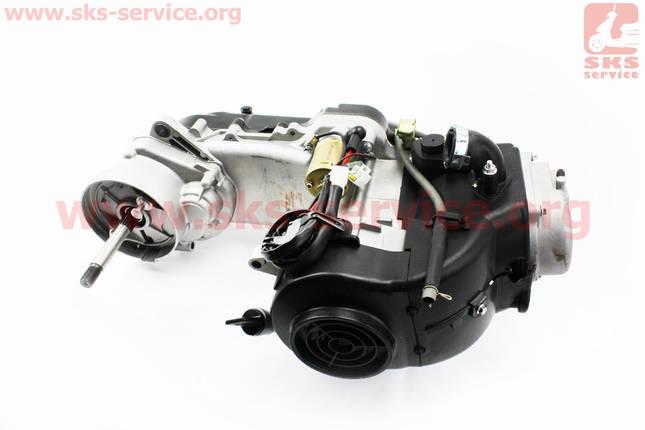 Двигатель скутерный в сборе 4Т-80куб (короткий вариатор, длинный вал), фото 2