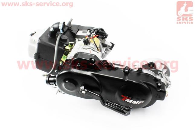 Двигатель скутерный в сборе 4Т-80куб (короткий вариатор, короткий вал), фото 2