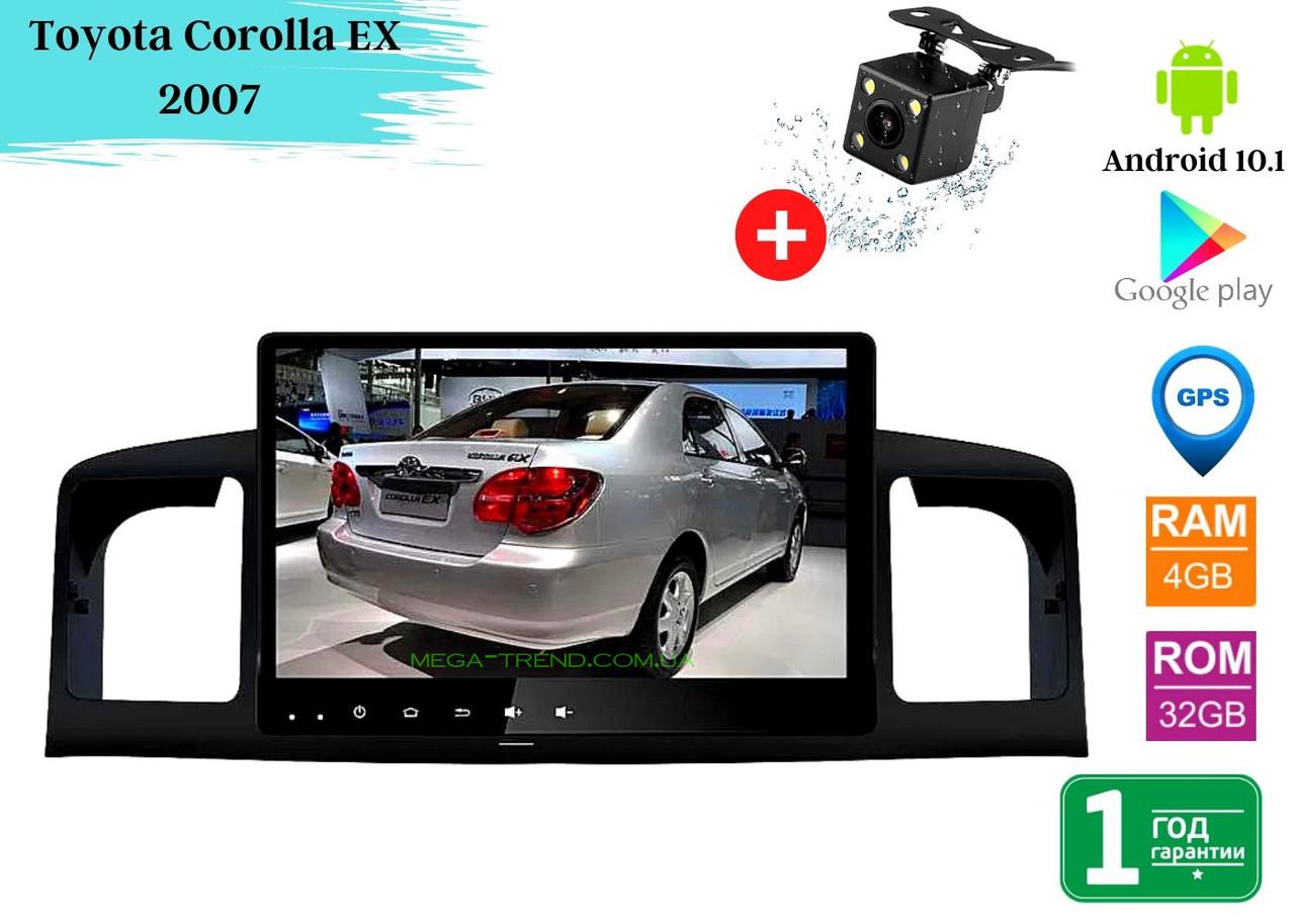 "Штатная магнитола Toyota Corolla EX 2007 (9"") Android 10.1 (4/32)"