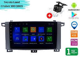 "Штатная магнитола Toyota Land Cruiser 100 2005 (9"") Android 10.1 (4/32)"