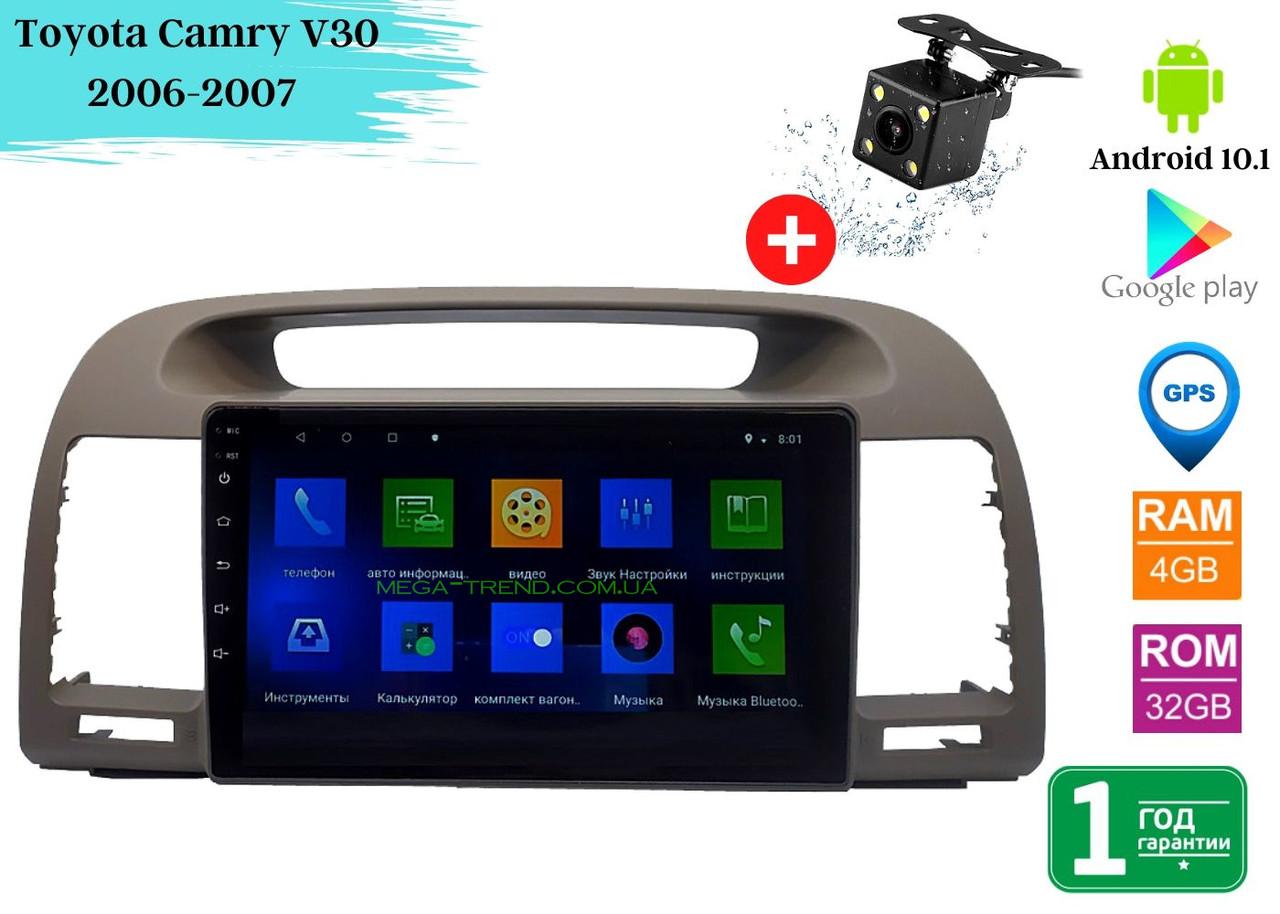"Штатная магнитола Toyota Camry V30 2006-2007 (9"") Android 10.1 (4/32)"