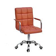 Кресло офисное на колесах AUGUSTO-ARM CH-OFFICE эко кожа , коричневый 1014