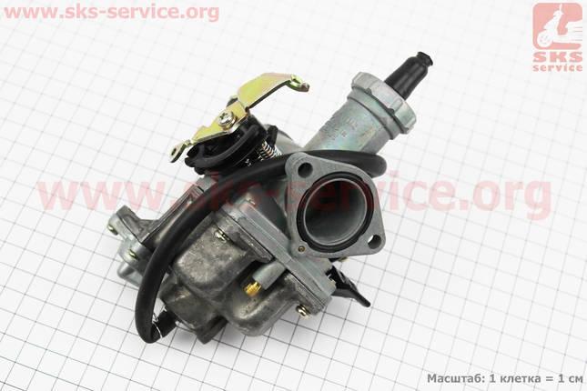 Карбюратор СВ/CG-150 (d=27), дросель ручной, с ускорительным насосом, фото 2