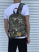 Спортиный мужской рюкзак камуфляжный с гербом, фото 1