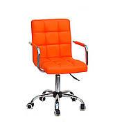 Кресло офисное на колесах AUGUSTO-ARM CH-OFFICE эко кожа , оранжевый 1012