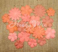 Набор цветов Dovecraft Paper Blossoms - Orange