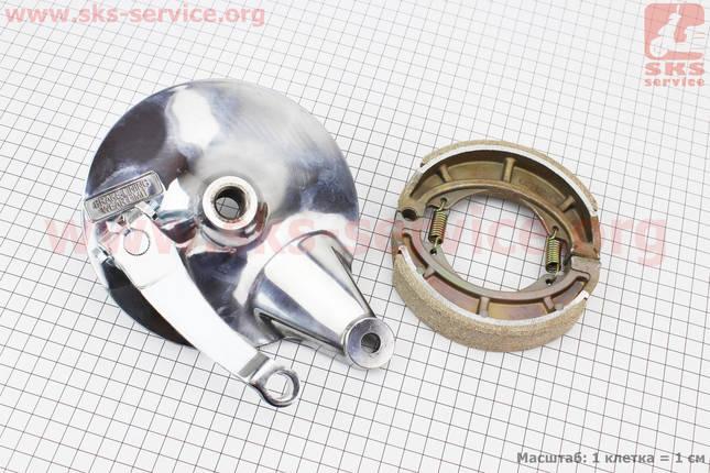 Панель тормозная задняя с колодками на литое колесо, фото 2