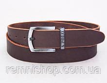 Кожаный мужской коричневый ремень Polo
