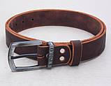 Кожаный мужской коричневый ремень Polo, фото 2