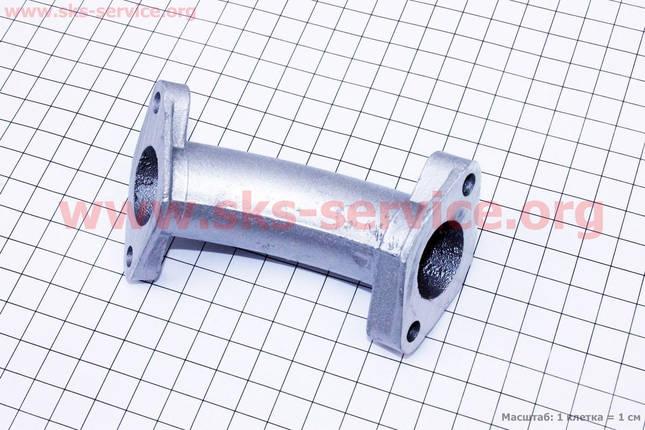 Патрубок карбюратора (алюминий), d - 22mm, h - 100mm, фото 2