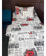 Набор постельного белья детский полуторный Газета