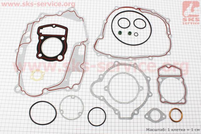 Прокладки двигателя к-кт CB-125cc 56,5мм, фото 2