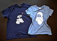 """Парні футболки ручного розпису """"Wall-E&Eva"""""""