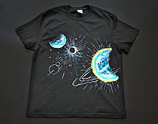 """Парні футболки ручного розпису """"Планети"""", фото 3"""
