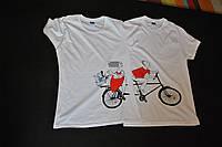 """Парні футболки ручного розпису для закоханих """"Happy together"""""""
