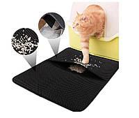 Водонепроницаемый коврик для кошачьего туалета 45х60см Grey