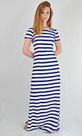 Платье женское летнее длинное в полоску   Турция 5089, фото 1