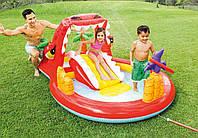Детский игровой центр Веселый Дино с фонтанами и кольцами Intex 57160 надувной комплекс