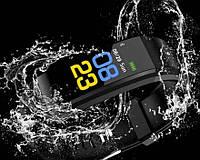 Часы фитнес браслет с измерением пульса Smart Band B05 Черный  (Без измерения давления)