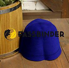 Шапка для бани и сауны из шлифованного пуха сибирского кролика Fassbinder™, синяя