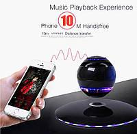Левитирующая Bluetooth музыкальная колонка Levitating Speaker вращение 360, портативная блютуз колонка